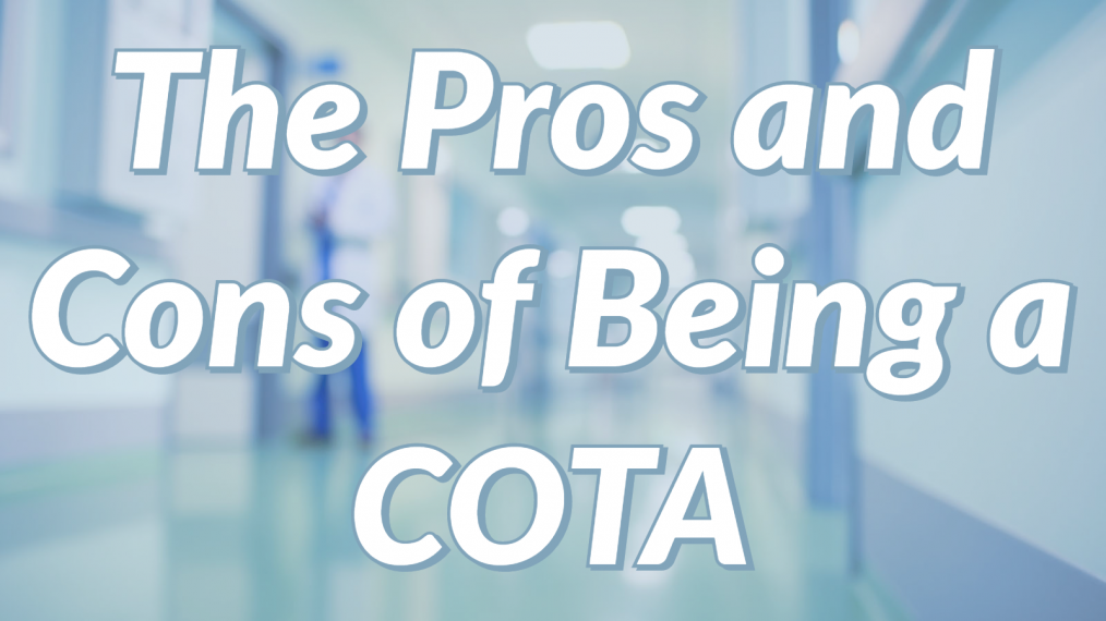 pros and cons of being a COTA