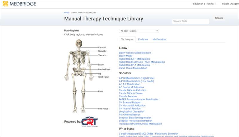 manual therapy technique