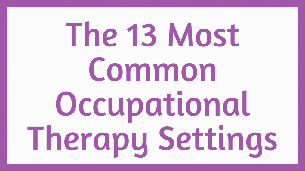 occupational therapy settings main