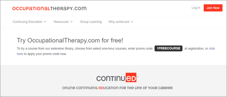 occupationaltherapycom free ceu