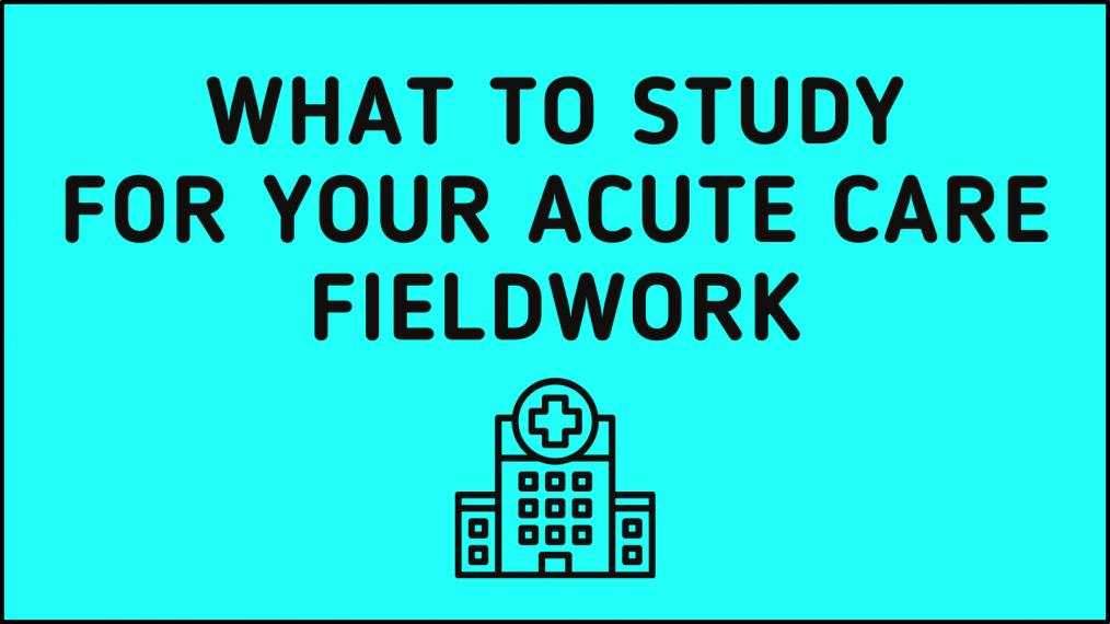 Study Acute Care Fieldwork