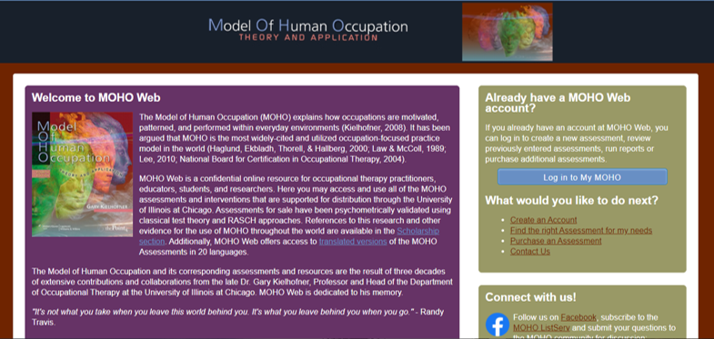 occupational therapy models moho