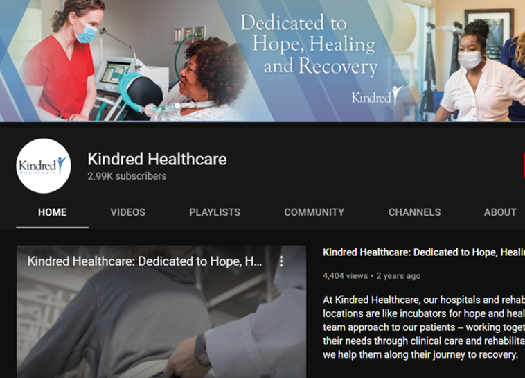 kindred healthcare occupational therapy youtube channels