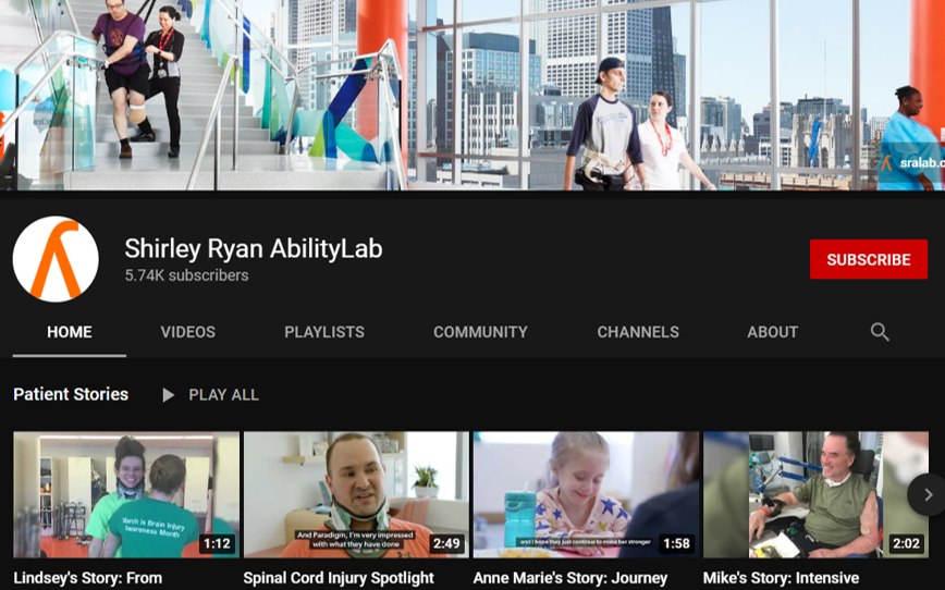 shirley ryan occupational therapy youtube channels