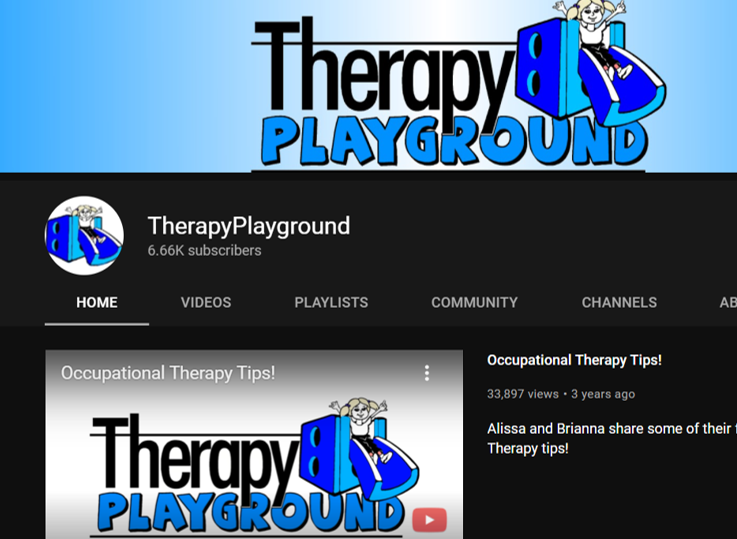 therapy playground occupational therapy youtube channels